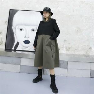 ファッション レディース パーカー ロングシャツ ...