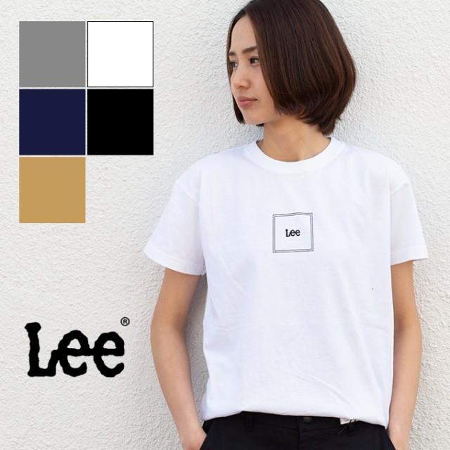 【 Lee リー 】S/S SQUARE LOGO T-SHIRT スクエアロゴ 半袖Tシャツ LT2552 / トップス 半袖 ロゴT ショートスリーブ クルーネック 丸首