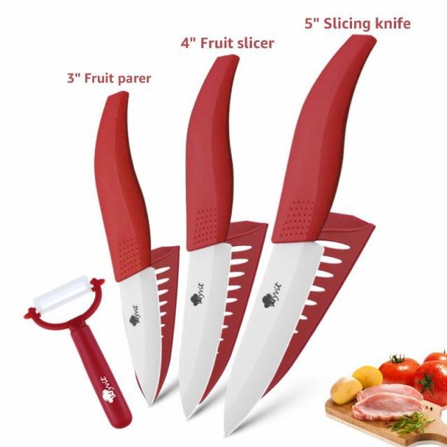 セラミックナイフ 4点セット 4色 包丁セット + ピ...