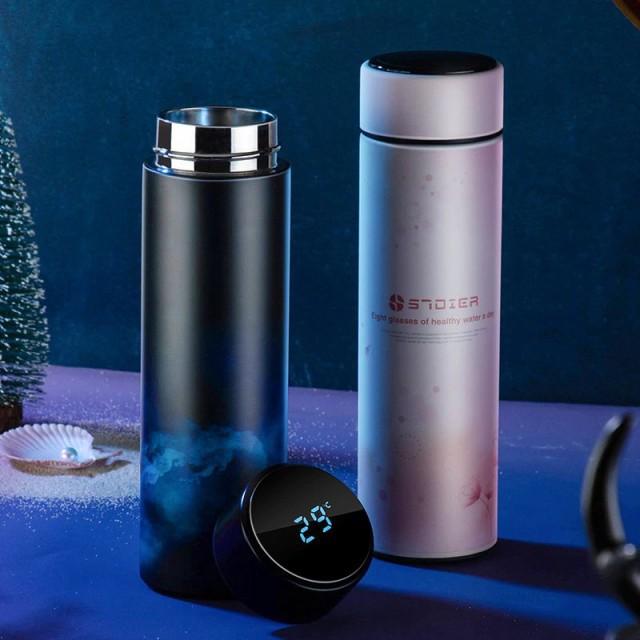 スマート魔法瓶 6種 温度表示 水筒 タンブラー 45...
