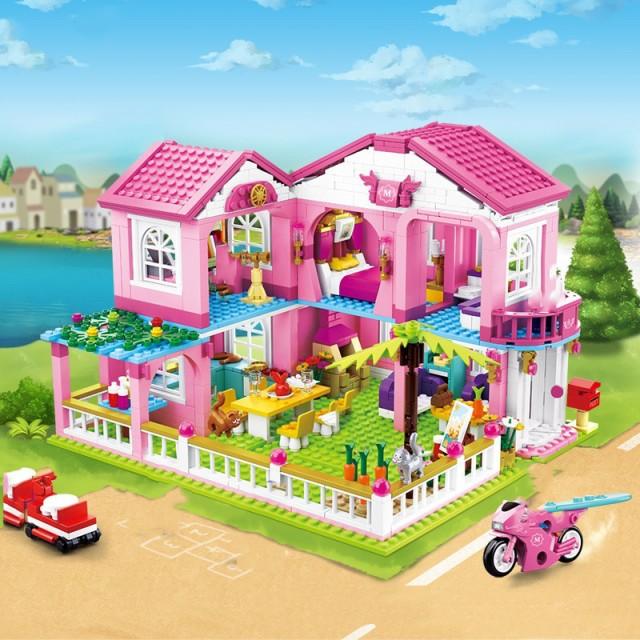 ブロック おもちゃ ドールハウス メリーゴーラウ...