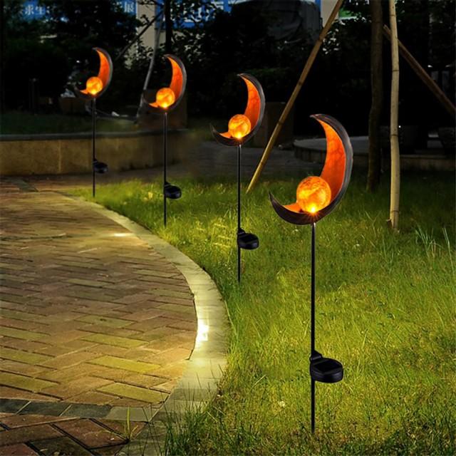 ガーデンライト ソーラー 炎 太陽 月 LED ランプ ...