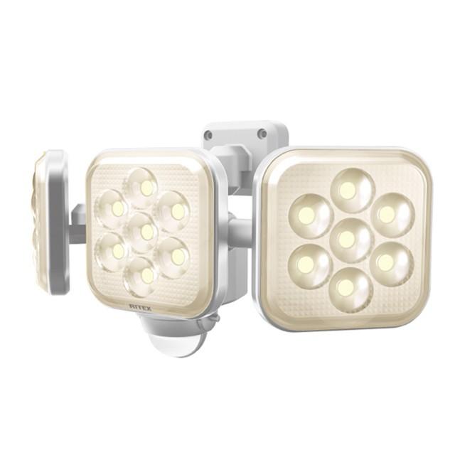 送料無料8W×3灯 LEDセンサーライト 電球色 LED...