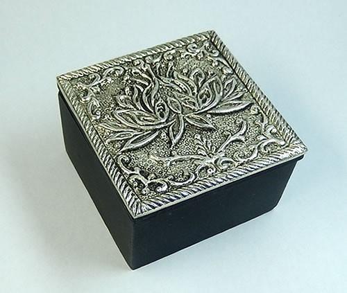 ロータスジュエリーボックス6×6×3.8cm浄化用ボ...