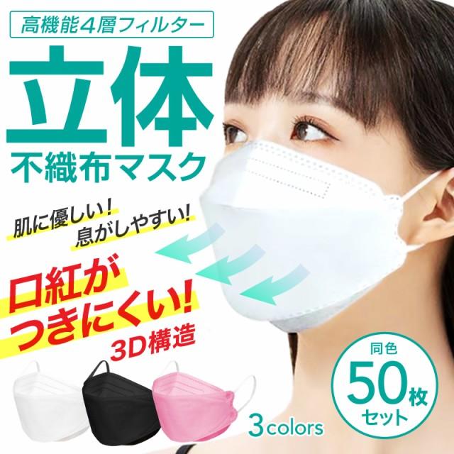 韓国マスク kf94 50枚 セット 不織布マスク 血色...
