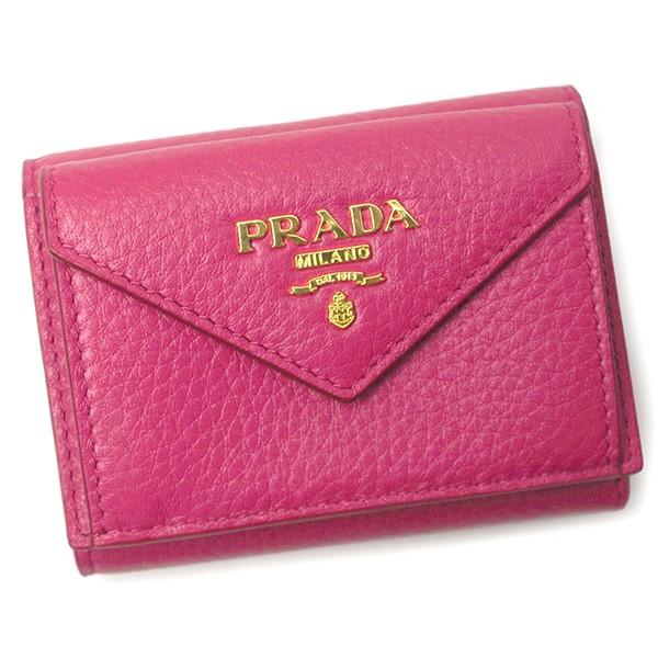 プラダ 本革 三つ折り財布 レディース 1MH021 VIT...