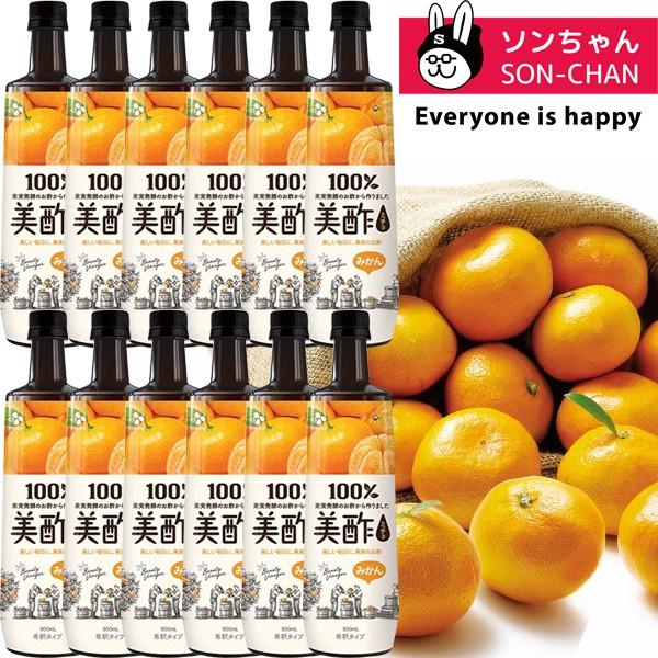 CJジャパン 美酢「ミチョ みかん」900ml ×12本  ...