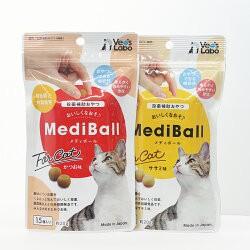 メディボール 猫用 ササミ味(15個入)×かつお味(1...