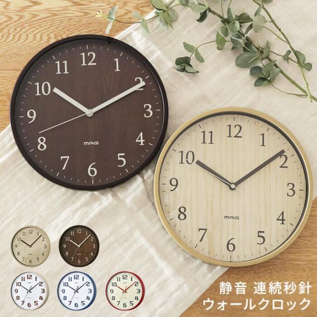 フォレストランド 壁掛け時計 連続秒針[時計 壁掛...