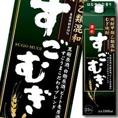 【送料無料】合同 むぎ焼酎 すごむぎ 25度1.8L...