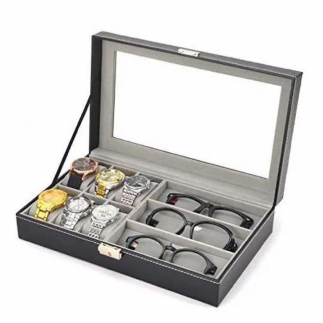 【コレクションケース】腕時計 6本 メガネ 3本 収...