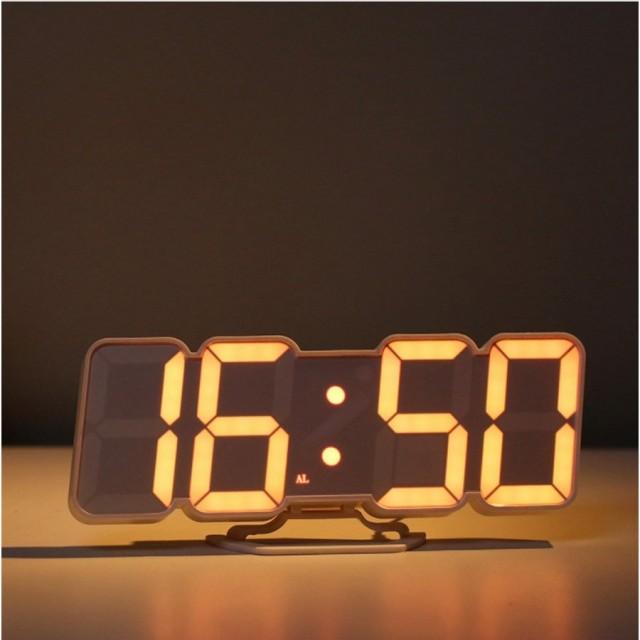 デジタル時計 壁掛け時計 置時計 LED おしゃれ 夜...
