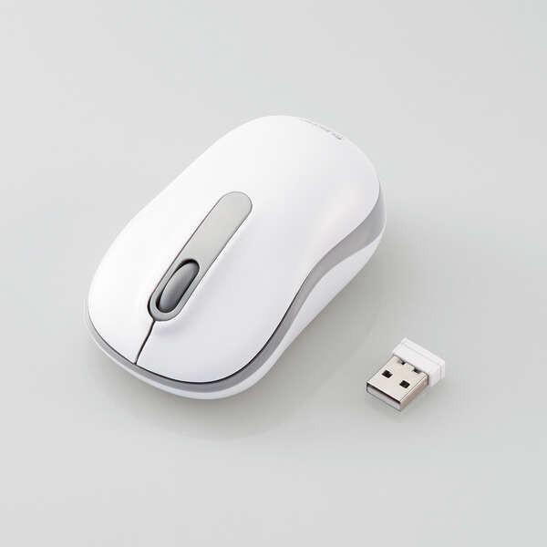 エレコム 無線マウス/光学式/Mサイズ/抗菌/ホワ...