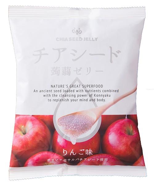 チアシード蒟蒻ゼリー りんご味 10個入 ×12セッ...