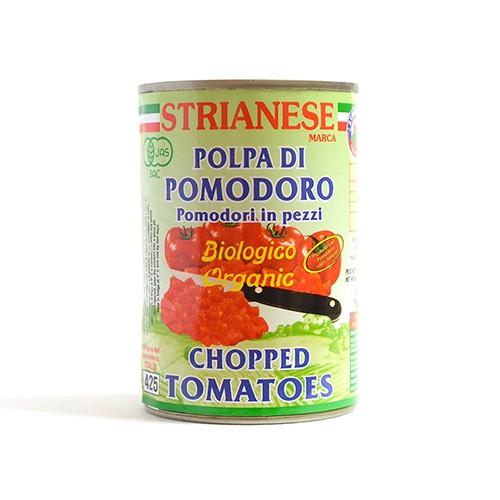 ストリアネーゼ 有機トマト缶 カット 400g×24セ...