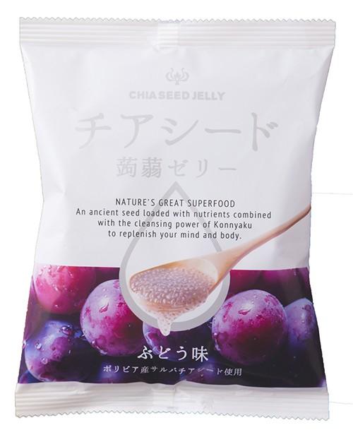 チアシード蒟蒻ゼリー ぶどう味 10個入 ×12セッ...