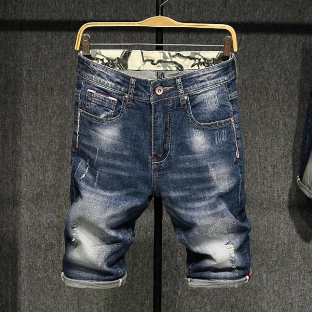 新品 メンズショートパンツ  ジーンズ  デニム...