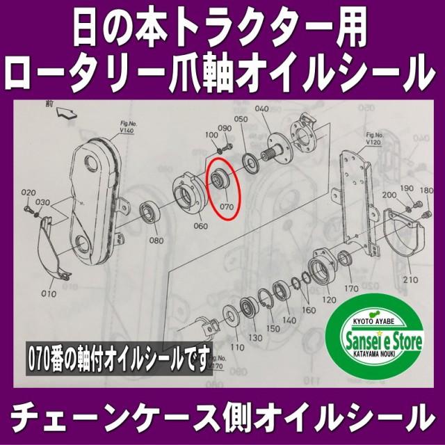 日の本(日立)  ロータリー 爪軸 チェーンケース側...