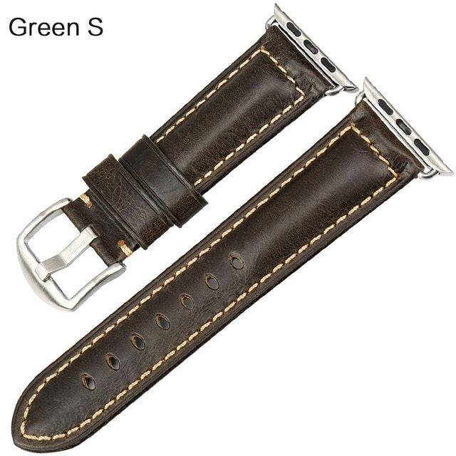 腕時計用ベルト、バンド MAIKES オイルワックス ...