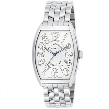○FRANCK MULLER腕時計 フランク・ミュラー  カサブランカ 6850 C O WHT ホワイト シルバー ステン ●【新品・未使用・正規品】