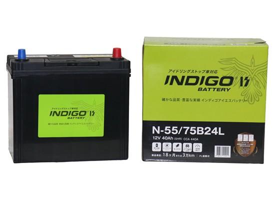 INDIGO インディゴ ISバッテリー N-55/75B24L ア...