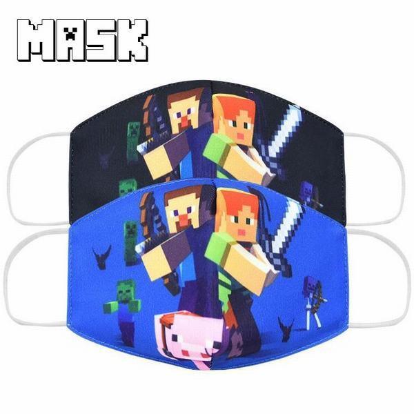 マインクラフト 2パターン マスク 子供用 幼稚園 ...