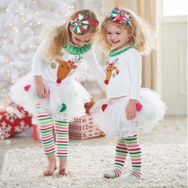 クリスマス ベビー服 2点セット 長袖 長ズボン Ch...