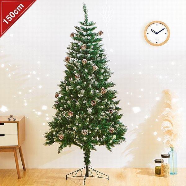 クリスマスツリー 松かさスノータイプ 150cm 雪化...