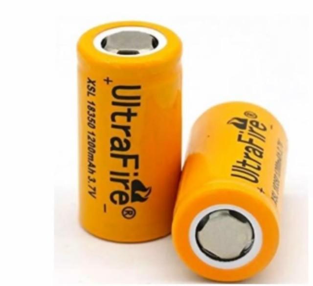 正規品 UltraFire 保護回路無し XSL18350 1200mAh...
