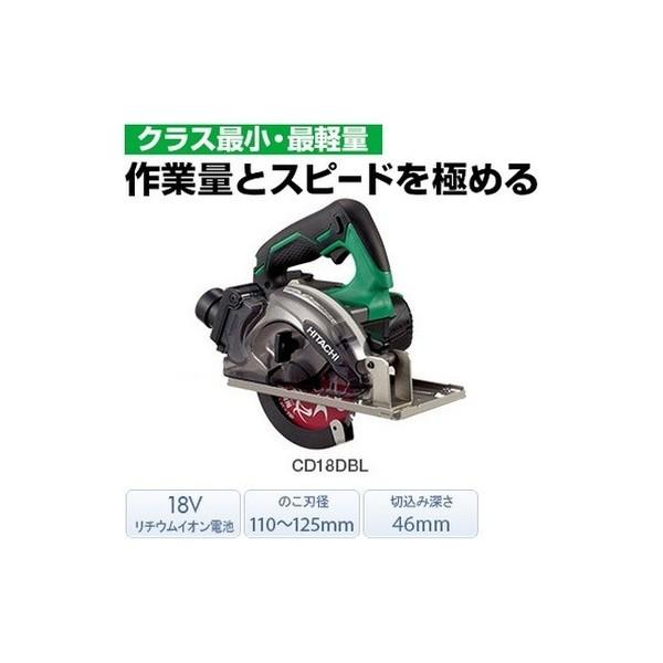 日立 コードレスチップソーカッタ CD18DBL(NN) 本...