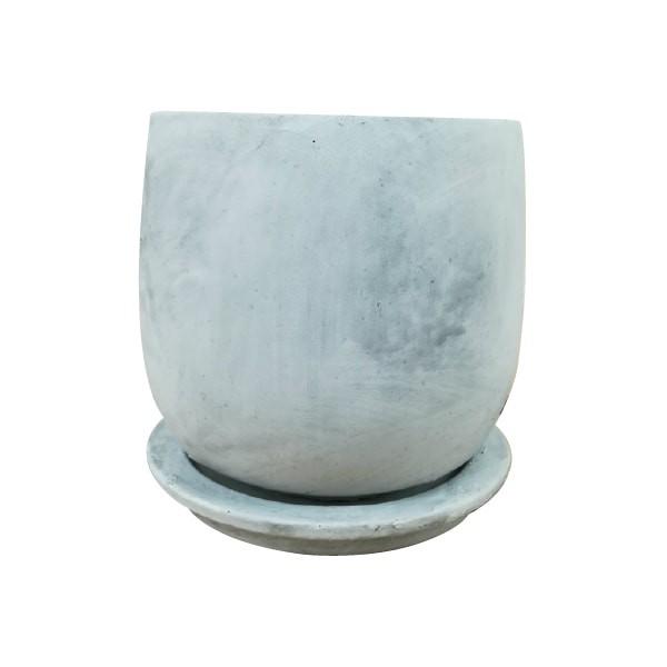 植木鉢 セメントラウンドポット MM059-185 6号(18...