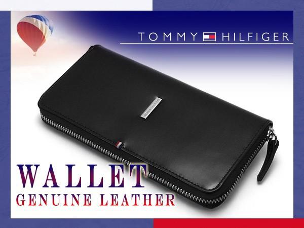 トミーヒルフィガー 長財布 ブラック 31TL13X013-...