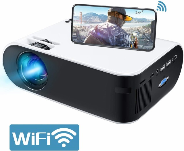 GooDee プロジェクター WiFiプロジェクター 4800l...
