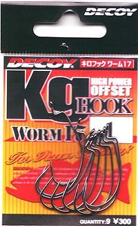 ●デコイ キロフック WORM17(黒バリ) 【メール...
