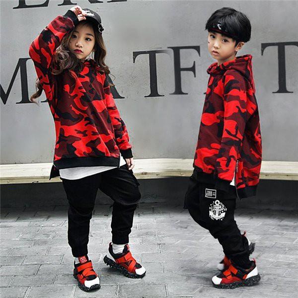 キッズダンス衣装 キッズ ダンス衣装 迷彩 キッズ...