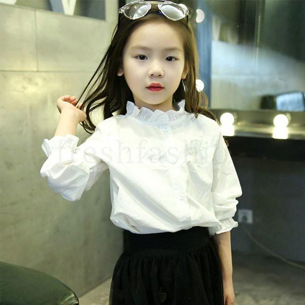 長袖ブラウス 女の子 シャツ 入学式 子供服 キッ...