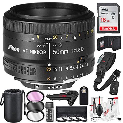 Nikon AF Nikkor 50?mm f / 1.8d Prime Lens and ...