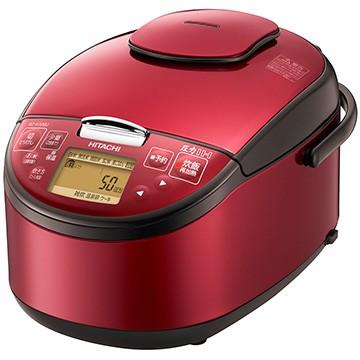 日立 圧力IH炊飯器 5.5合炊き レッド RZ-H10BJ-R...