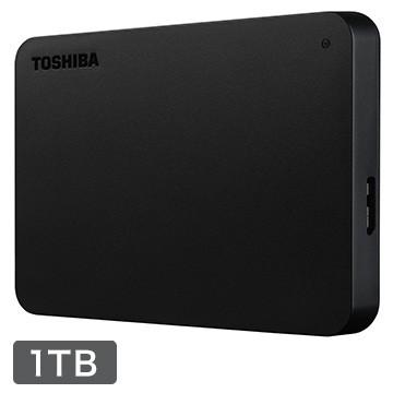 TOSHIBA 外付け ポータブルハードディスク 1TB ブ...