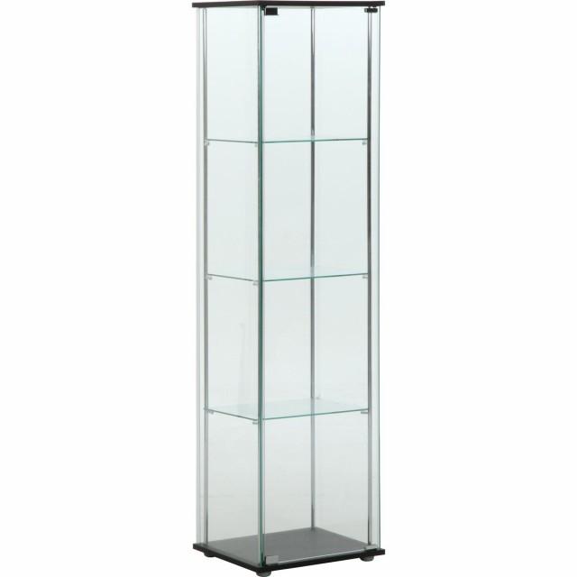 不二貿易 ガラスコレクションケース 4段 96047
