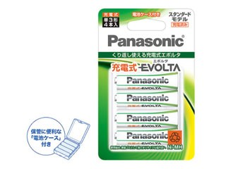 Panasonic/パナソニック 充電式エボルタ 単3形 4...