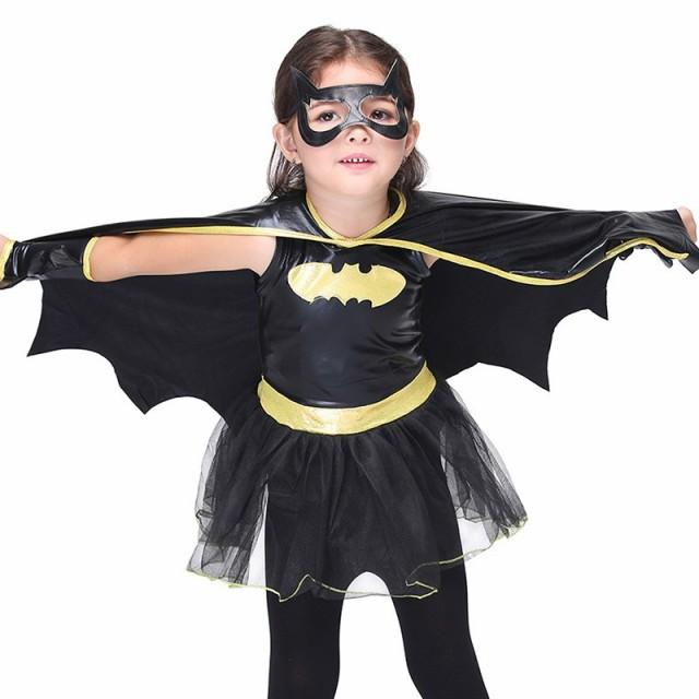 こども用 バットマンコスチューム☆ キッズ 子ども 男女兼用 / S〜XL / ハロウィン クリスマス パーティー コスプレ / かわいい BATMAN