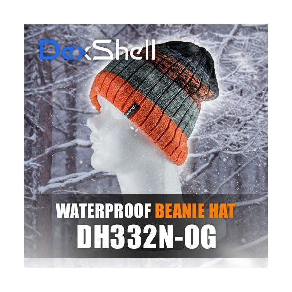 防水通気防寒ビーニー帽(Dex Shell)DH332N-OG