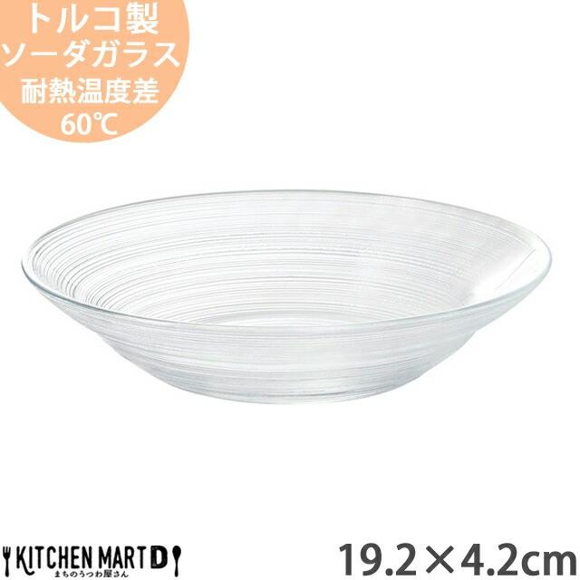 イマージュ ガラス 19.2×4.2cm 丸 浅 ボウル ト...