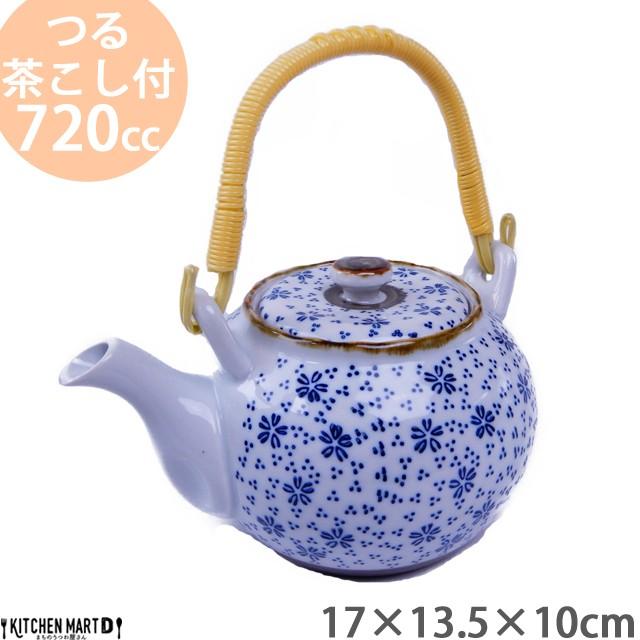 土瓶 4号(720cc) 染付小花 土瓶 急須 茶こし付 ...