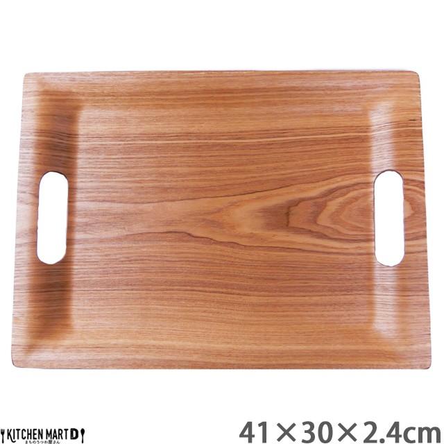 41cm×30cm 取っ手付き 木製 木 トレー ウイロー...