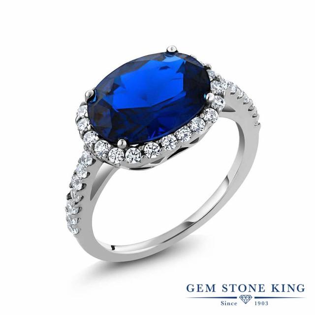 Gem Stone King 4.03カラット オーバル ブルーサ...