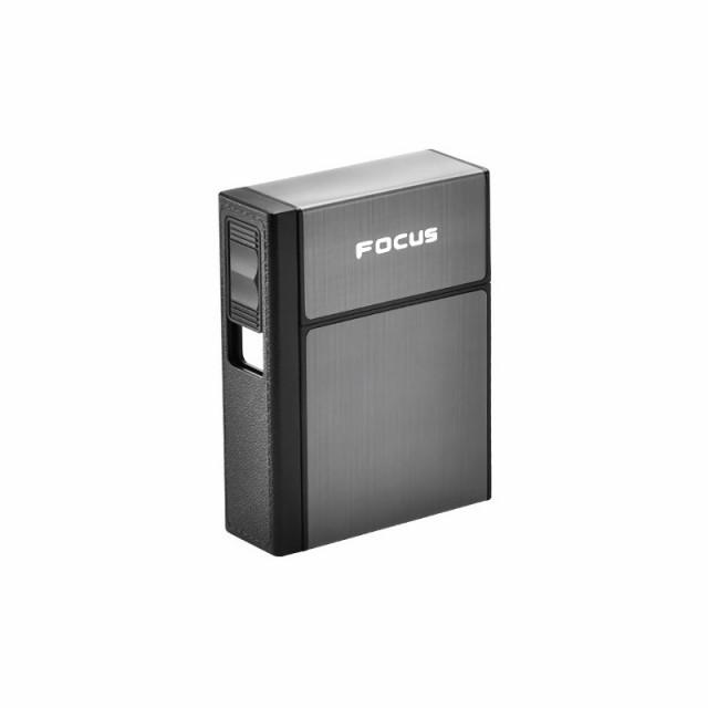 FOCUS アルミ 2in1 多機能タバコケース [ブラック...