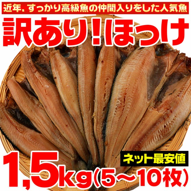 干物 送料無料 訳あり ホッケ ほっけ 干物セット 約1.5kg 5枚〜10枚セット わけあり ワケアリ 特大 グルメ
