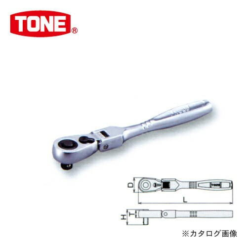"""前田金属工業 トネ TONE 6.35mm(1/4"""") 首振ラチ..."""